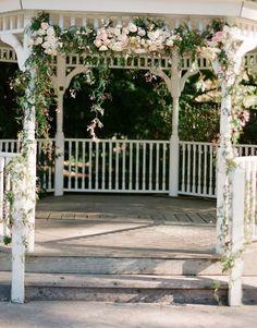Wedding gazebos gazebo wedding decorations glv pinterest wedding gazebo with flower garland junglespirit Images