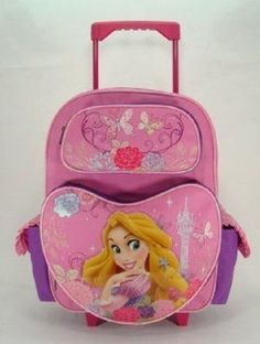 Rolling Backpack  Disney  Rapunzel  Beauty of Light 16 Large School Bag * Find out more about the great product at the image link.