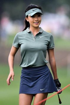 Muni He Photos Photos: Honda LPGA Thailand: Day 3 - Muni He Photos – Muni HE of China smiles during the Honda LPGA Thailand at Siam Country Club on February 2018 in Chonburi, Thailand. – Honda LPGA Thailand: Day 3 Source by enriquedenispastor - Sexy Golf, Tennis Outfits, Tennis Clothes, Golfing Outfits, Cute Golf Outfit, Girl Golf Outfit, Girls Golf, Look Girl, Golf Pants