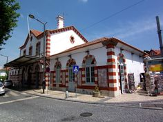 O Leme - Imagens da Vila de Sintra - Estação ferroviária, o caminho para Lisboa.