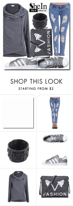 """""""10#SheIn"""" by fatimka-becirovic ❤ liked on Polyvore featuring adidas Originals"""