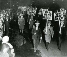 Anti-prohibition protest calling for the repeal of the 18th amendment to the US Constitution, 1929