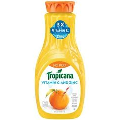 Tropicana Vitamin C plus Zinc juice is 100% OJ made with fresh squeezed oranges I #GotItFree from bzzagent! My entire family loves Tropicana and the great taste. Get your #VitaminCTimesThree