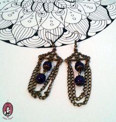 Amethyst Oriental Earrings   https://www.facebook.com/blitheproject/  http://www.blitheproject.hu/