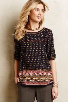 Holding Horses Embroidered Minas Top #anthrofave