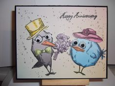 Crazy Birds Anniversary Card by bmbfield - Cards and Paper Crafts at Splitcoaststampers