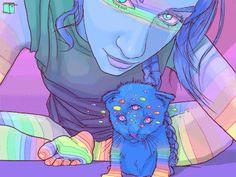 Juxtapoz Magazine - Rainbows on Your Nether Regions - Jean Francois Painchaud (NSFW)