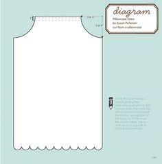 Pillowcase dress cutting diagram