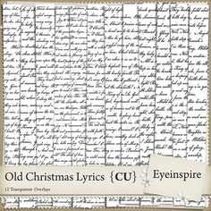 Christmas Lyric Digital Overlays from SugarHillCo