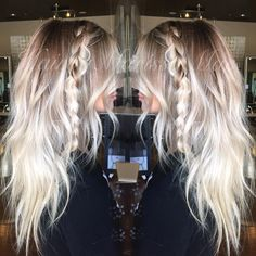 """""""Rooty platinum and textured waves, my favorite  Some people don't understand the """"rooty"""" look but theres something so striking about a blended contrast…"""""""