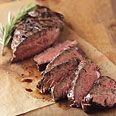 Pan-Grilled Beer-Marinated Hanger Steak from Epicurious.com