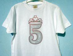 Geburtstags Prinzessin Strass T-Shirt mit Krone von ClaudioCrissi