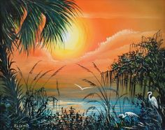 Image detail for -LEWIS FLORIDA HIGHWAYMEN PAINTING : Lot 284