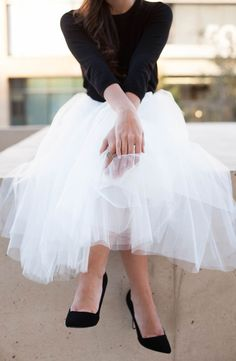 I need an event where it's acceptable to wear a tulle skirt like this.