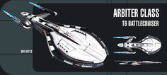 The Tier 6 Arbiter Class Battlecruiser is based upon the Avenger Class Battlecruiser's design. This upgraded starship was designed from the ground up to be durable enough to combat the Iconian thre...