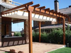 The pergola kits are the easiest and quickest way to build a garden pergola. There are lots of do it yourself pergola kits available to you so that anyone could easily put them together to construct a new structure at their backyard. White Pergola, Small Pergola, Deck With Pergola, Outdoor Pergola, Covered Pergola, Backyard Pergola, Pergola Kits, Pergola Roof, Corner Pergola
