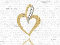 Coração - Pingente em ouro amarelo e diamantes.