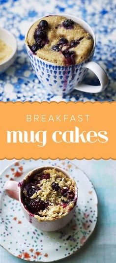 Make breakfast in a flash. All you need are some pantry staples, fruits and a cup to whip up an easy blueberry mug cake or an almond-berry crumble.
