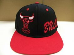 NBA Chicago Bulls Black Red 2 Tone Retro Snapback Cap Side Script by adidas. $19.99. From the Vintage NBA Collection. . Size is a One Size Snap Back. . Retro Old School men's Original Chicago Bulls Tone custom Snapback cap. . Custom 2 Tone color cap.. Original Adidas Vintage Authentic Snapback Cap for Chicago Bulls . Embroidered on the front is a TEAM name. . 100% Authentic. . Brand new & never worn. . OFFICIAL LICENSED (NBA) PRODUCT .