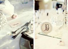 Rob & Amy's Rock'n Roll style table numbers were placed on the tables in beautiful frames. - Canvas Stationery Boutique