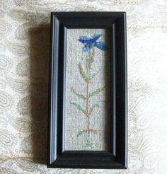 Vyšívaný obraz - kvet /flower/
