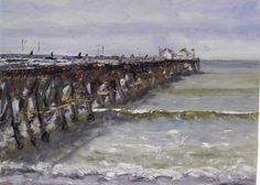 Bob Francis, San Clemente pier San Clemente Pier, Watercolours, Lighthouses, Color Inspiration, Bob, Paintings, Artist, Watercolour, Paint