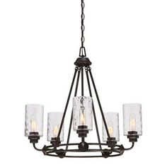 Designers Fountain Gramercy Park Old English Bronze Five-Light Chandelier