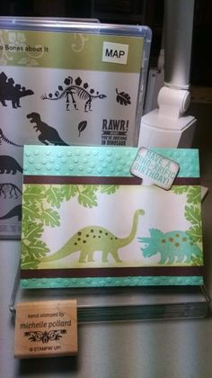 Dino-rrific Birthday by daisyp - Cards and Paper Crafts at Splitcoaststampers