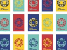 Parc olympique.Branding by lg2boutique. Vibrant and bold identity.