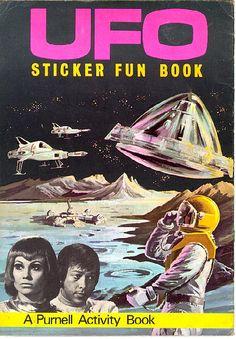 Purnell - Sticker Fun Book Comic Book Covers, Comic Books, Ufo Tv Series, 1970s Childhood, Cool Stickers, Book Activities, Retro, Comic Art, Good Books
