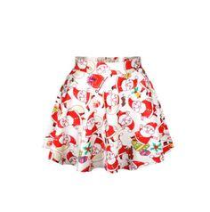 White Santa mini skirt