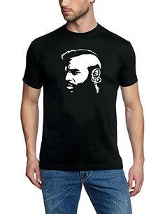 Coole Fun T-Shirts MR. T t-shirt A-TEAM ACTION TEAM, schwarz weiss, Grösse: XL