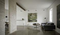 plain cement flooring