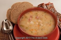Bean Soup and Rye Bread - The perfect combination