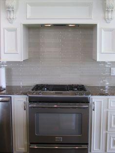 Stacked Glass Tile Backsplash Ideas, Fireplaces, My Dream Home, My House, Kitchen Ideas, Tile, Sweet Home, Farmhouse, Kitchen Appliances