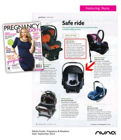 Nuna PIPA has been included in a Safe Ride feature in Pregnancy & Newborn Magazine!