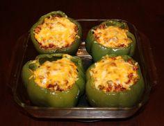 vegetarian stuffed green peppers