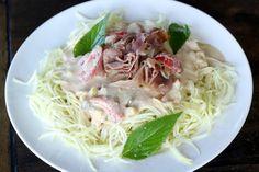 "Maria Mind Body Health | ""Pasta"" with Lemon Cream and Prosciutto - Maria Mind Body Health"