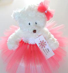 Coral Tutu Teddy Bear