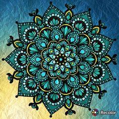Sunday night #mandala. #cyan out loud. #coloring #color #recolor #meditation