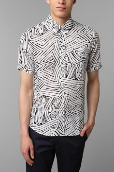 i'm really into printed short-sleeve button-downs this summer. it's on! Volcom Manhattan Button-Down Shirt