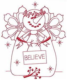 Embroidery.com: December Snowman: Individual Designs