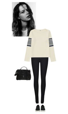 """""""#119"""" by ceciliefang ❤ liked on Polyvore featuring Dr. Denim, Uniqlo, Proenza Schouler and Steve Madden"""