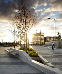 #landarch #urbandesign City Street and Station North Plaza / ASPECT Studios