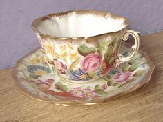 Antique English tea cup and saucer set vintage by ShoponSherman