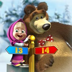 Masha And The Bear Wallpaper 1366 X 768 Hd Wallpaper Pictures to pin