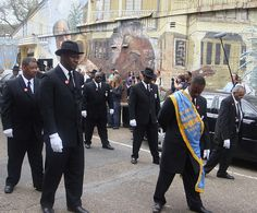 Jazz funeral for Snooks Eaglin, New Orleans. http://www.flickr.com/photos/readingboy/3318425546/