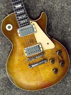 "1959 Gibson Les Paul ""The Memphis Mojo Burst"" 1959 Gibson Les Paul, Gibson Les Paul Studio, Vintage Electric Guitars, Vintage Guitars, Gibson Les Paul Sunburst, Vintage Les Paul, Guitar Inlay, Les Paul Guitars, Les Paul Standard"