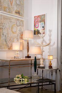 Julie Silvers Fabulous art  Fifi Laughlin's glass blown lamps- gorgeous!    Gallery 3954      3954 Magazine St.