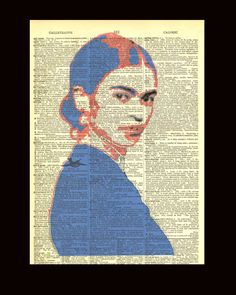 Young Frida Kahlo II (Dictionary Print) Bad Candy
